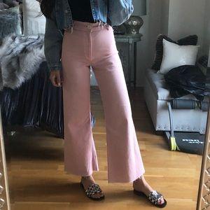 Size 2 Pink Zara Pants